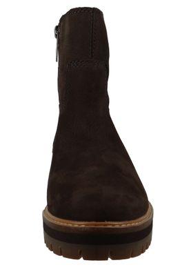Timberland A2576 Courmayeur Valley Faux Fur Boot Damen Leder Stiefelette Dark Brown Nubuck Braun – Bild 4