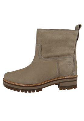 Timberland A257H Courmayeur Valley Faux Fur Boot Damen Leder Stiefelette Taupe Nubuck Grau – Bild 6