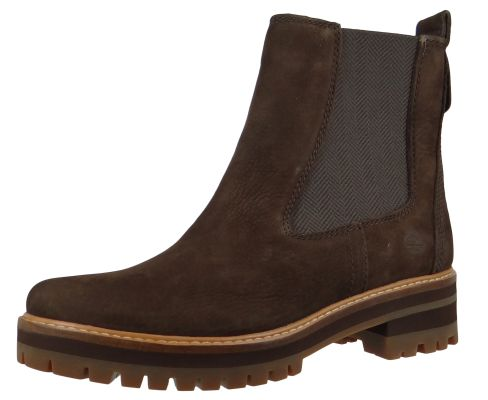 Timberland A23WU Courmayeur Valley Chelsea Boot Damen Leder Stiefelette Dark Brown Nubuck Braun – Bild 1