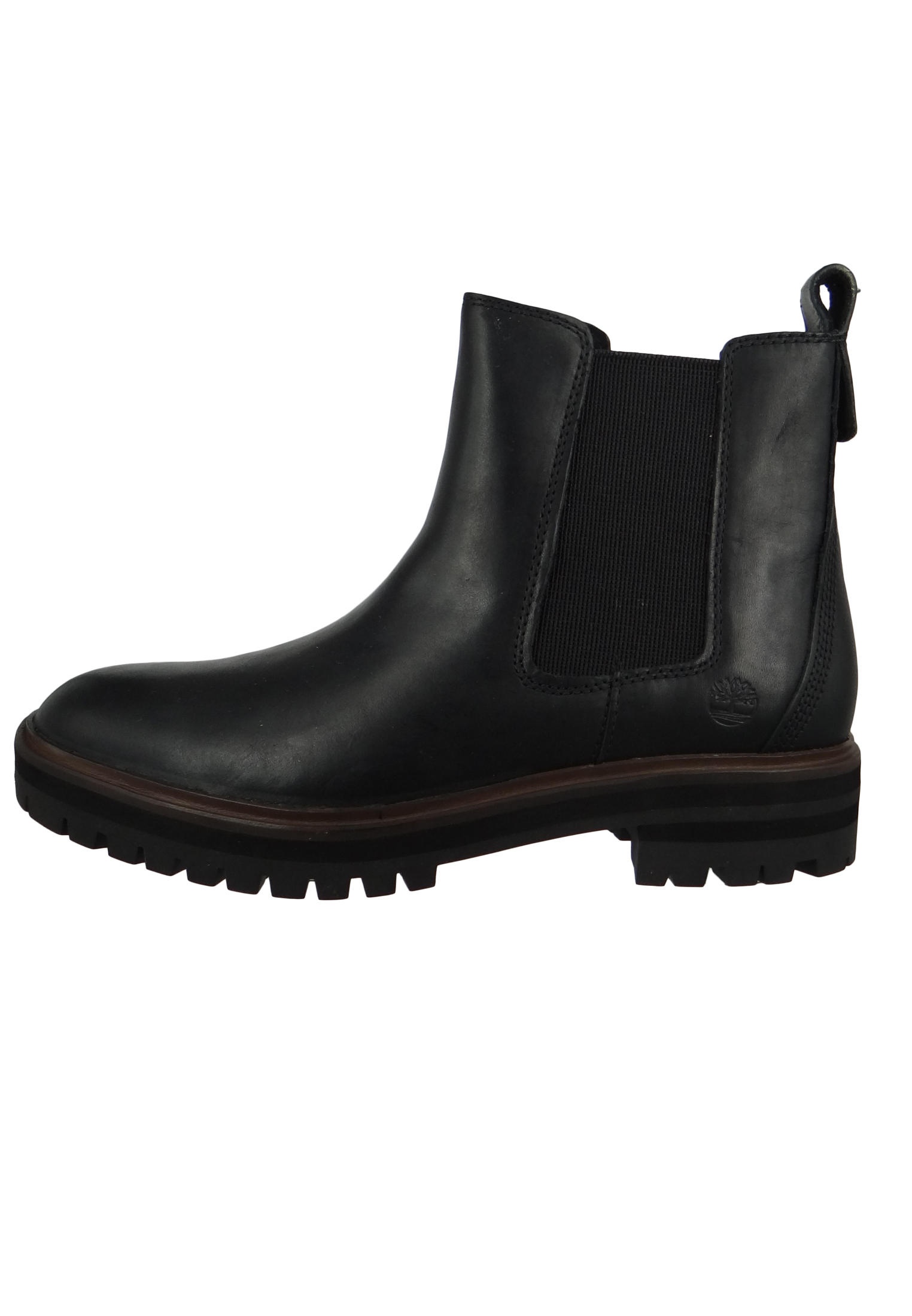 Timberland A1RBJ London Square Double Gore Chelsea Boot Damen Leder Stiefelette Black Full Grain Schwarz