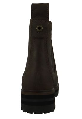 Timberland A29AH London Square Double Gore Chelsea Boot Damen Leder Stiefelette Taupe Full-Grain Grau – Bild 4