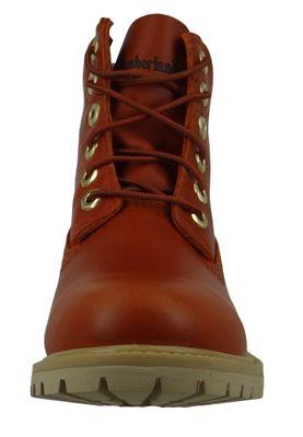 Timberland A2461 Nellie Paninara Collarless 6Inch Waterproof Boot Damen Leder Lace-Up Stiefelette Rust Full-Grain Rot-Braun – Bild 6