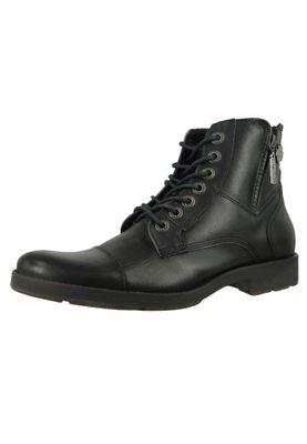 Harley Davidson Biker Boots Ankle Boots Rambert D93491 Black Black Harness – Bild 1