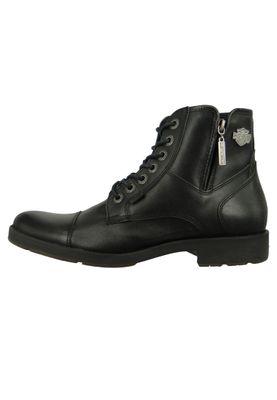 Harley Davidson D51024 Maine Herren Biker Boots Stiefelette Black Schwarz – Bild 2