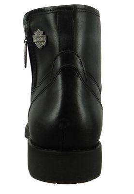 Harley Davidson Biker Boots Ankle Boots Rambert D93491 Black Black Harness – Bild 3