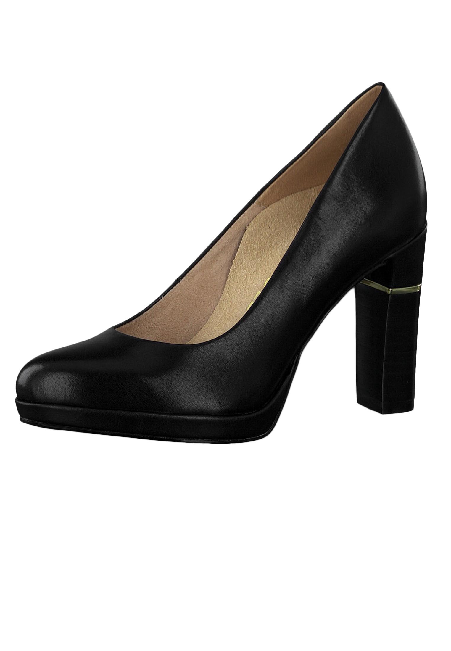 Tamaris 1 22402 23 001 Damen Plateau Pumps High Heel Leder Black Schwarz Anti Slide Anti Shokk