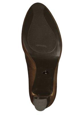 Tamaris 1-22402-23 305 Damen Plateau Pumps High-Heel Leder Cognac Braun Anti-Slide Anti-Shokk – Bild 4