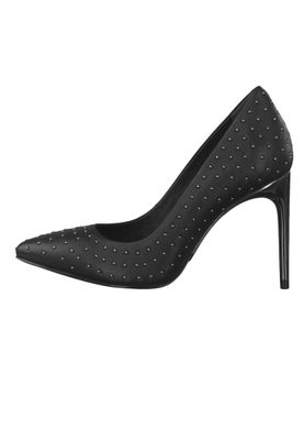Tamaris Trend 1-22438-23 001 Damen High-Heel Pumps Leder Black Schwarz mit TOUCH-IT Sohle – Bild 3