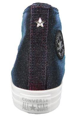 Converse Chucks Grau 564911C Chuck Taylor All Star Starware HI Laser Black Pink Pure Silver – Bild 4