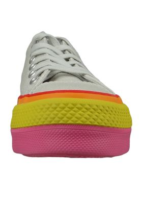 Converse Chucks Plateau Mehrfarbig 564992C  Chuck Taylor All Star Rainbow - OX Vintage White Pale  Putty – Bild 5