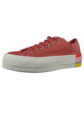 Converse Chucks Plateau Pink 564995C  Chuck Taylor All Star Rainbow - OX Coastal Pink Light Redwood – Bild 1