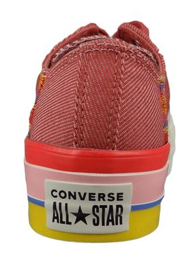 Converse Chucks Plateau Pink 564995C  Chuck Taylor All Star Rainbow - OX Coastal Pink Light Redwood – Bild 3