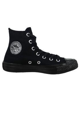 Converse Chucks Schwarz 565200C Chuck Taylor All Star Stargazer HI Black Black Black – Bild 4