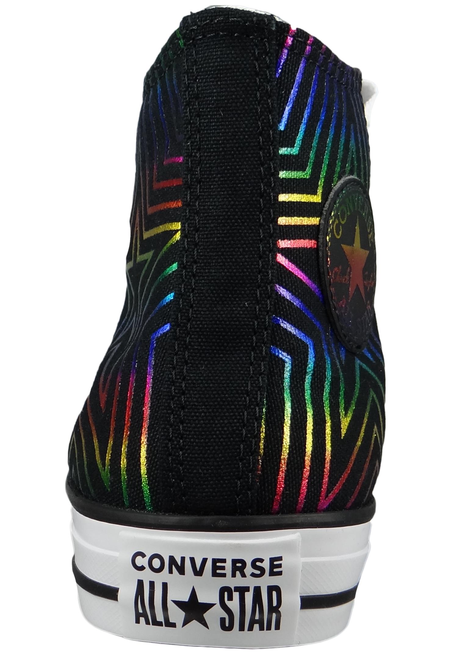 Converse Chucks Schwarz 565395C Chuck Taylor All Star HI Black White White
