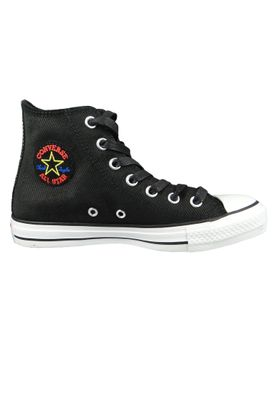 Converse Chucks Schwarz 564961C Chuck Taylor All Star Retrograde HI Black Habanero Red White – Bild 4