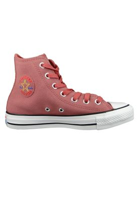 Converse Chucks Rot 564962C Chuck Taylor All Star Retrograde HI Light Redwood Habanero Red – Bild 4