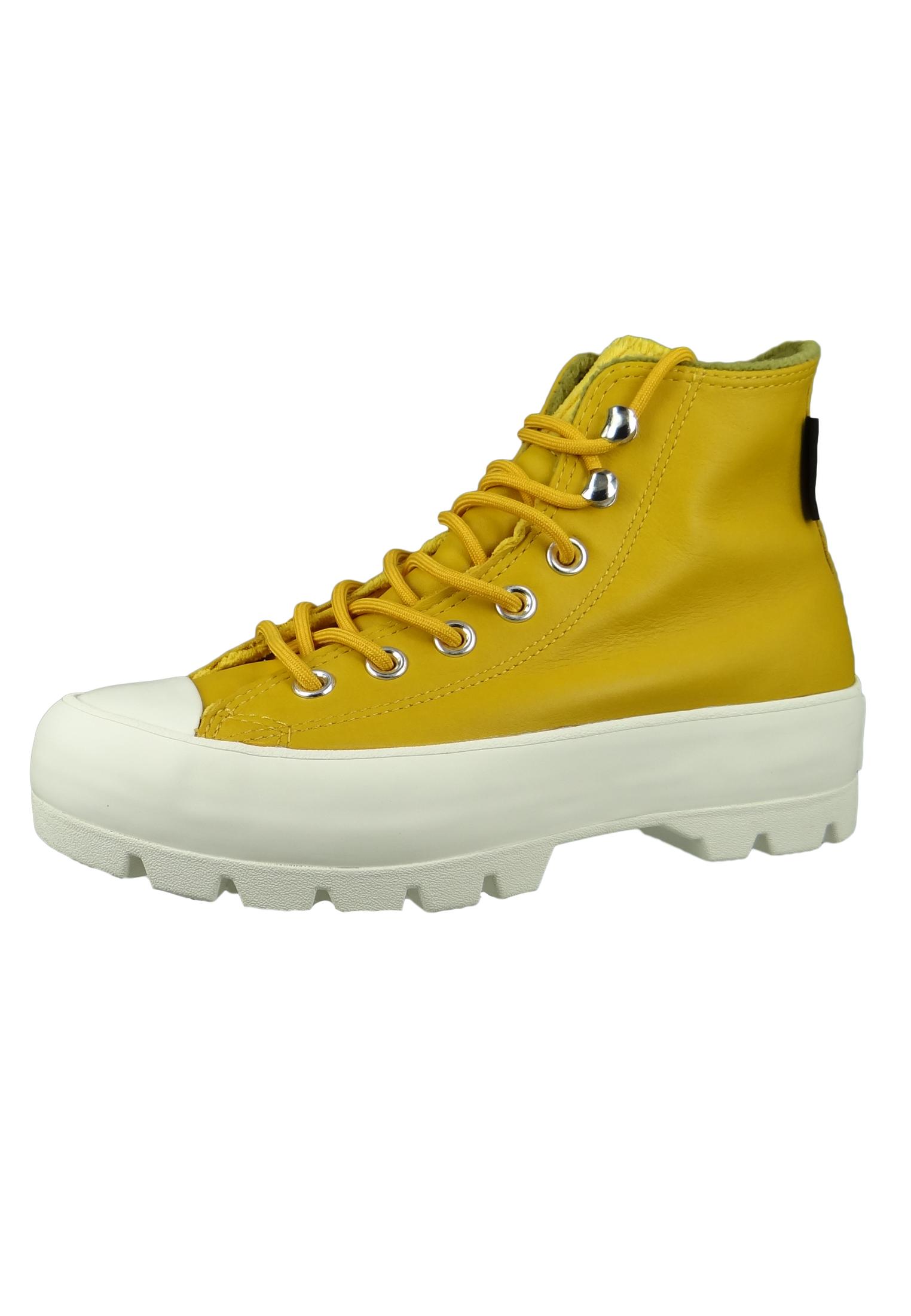 Converse Chucks Gelb 565005C Chuck Taylor All Star Lugged Winter Retrogade  HI - Gold Dart Olive Flak Egret