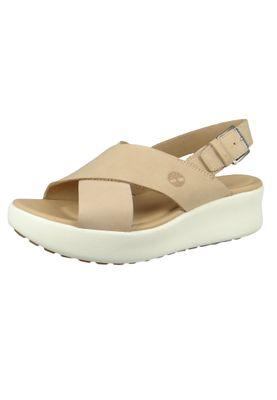 Timberland CA1WXJ Los Angeles Wind Slingback Damen Plateausandalen Light Beige – Bild 1