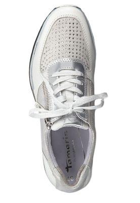 Tamaris 1-23740-33 948 Damen Sneaker Halbschuhe Silver Comb Silber – Bild 4