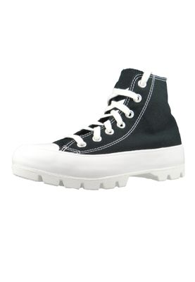 Converse Chucks Schwarz 565901C Chuck Taylor All Star Lugged HI - Black White Black – Bild 1
