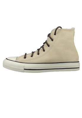 Converse Chucks Beige 566564C Warmfutter Chuck Taylor All Star HI - Light Bisquet Egret Blk – Bild 4