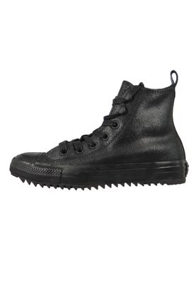 Converse Chucks Schwarz Leder 566111C Chuck Taylor All Star Hiker Waxed Suede Boot HI Black – Bild 2