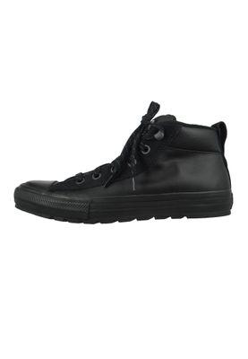 Converse Chucks Schwarz 166071C Chuck Taylor All HI Street Leather Mid Black – Bild 2