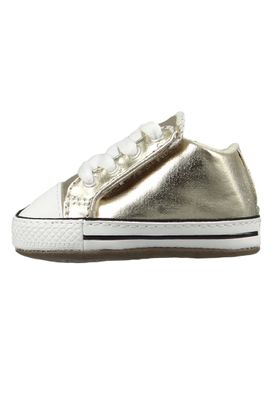 Converse Baby Chucks Gold Chuck Taylor All Star Cribster Metallic Canvas Mid Light Gold Ivory – Bild 2