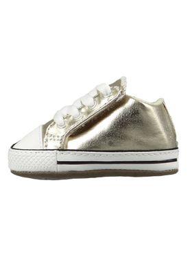 Converse Baby Chucks Gold Chuck Taylor All Star Cribster Metallic Canvas Mid Light Gold Ivory – Bild 3