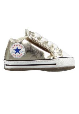 Converse Baby Chucks Gold Chuck Taylor All Star Cribster Metallic Canvas Mid Light Gold Ivory – Bild 5