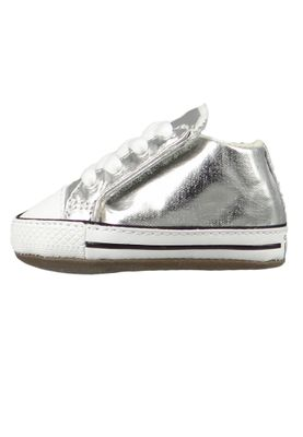 Converse Baby Chucks Silber Chuck Taylor All Star Cribster Metallic Canvas Mid METALLIC GRANITE/NATURAL IVORY – Bild 2