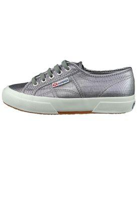 Superga Schuhe Sneaker Grau Silber 2750 MICROLAMEW Gun Metal Matt – Bild 2