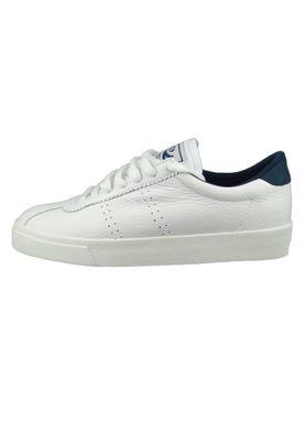 Superga Schuhe Damen Sneaker S00CKL0 2843 Comfleau Leder Weiss White Navy – Bild 2