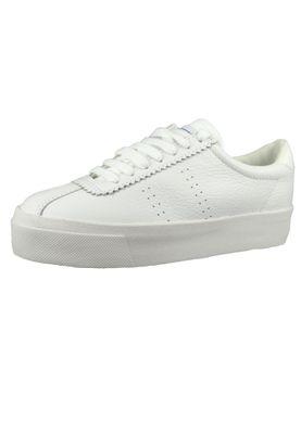 Superga Schuhe Damen Sneaker S00GV50 2854 LEAW Weiss White – Bild 1