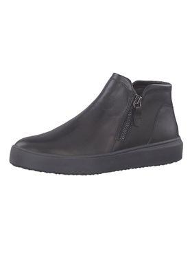 Tamaris 1-24708-23 005 Damen Sneaker Halbschuhe Leder Black Lea Uni Schwarz – Bild 2