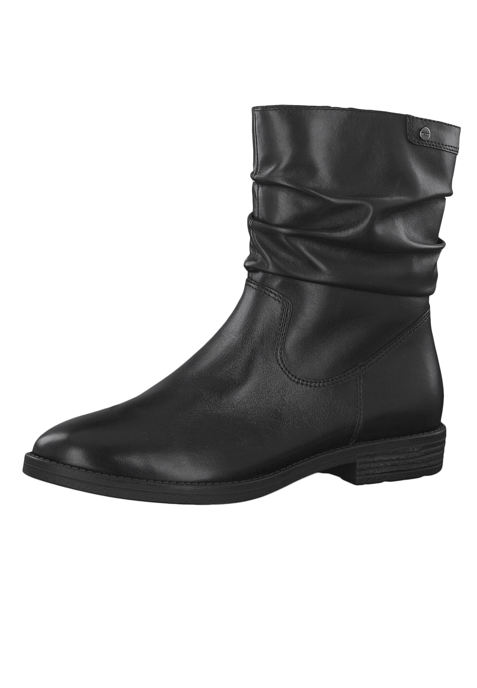 1 25014 23 001 Damen Stiefelette Leder Black Schwarz mit TOUCH IT Sohle