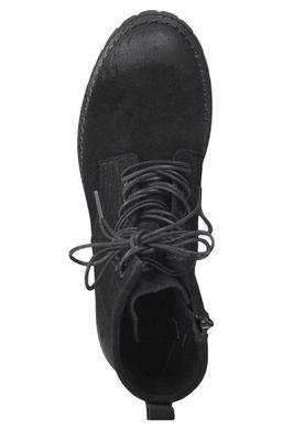 Tamaris 1-25268-23 001 Damen Schnürschuhe Stiefelette Boots Leder Black Schwarz – Bild 5
