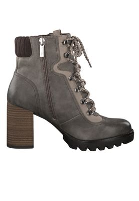 Tamaris 1-25208-23 249 Damen Stiefelette High Heeled Ankle Boot Steel Comb Grau mit TOUCH-IT Sohle – Bild 2