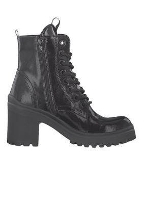 Tamaris 1-25282-23 018 Damen Stiefelette High Heeled Ankle Boot Black Patent Schwarz – Bild 2