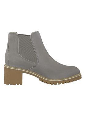 Tamaris 1-25447-23 254 Damen Stiefelette Chelsea Boot Leder Light Grey Grau – Bild 2