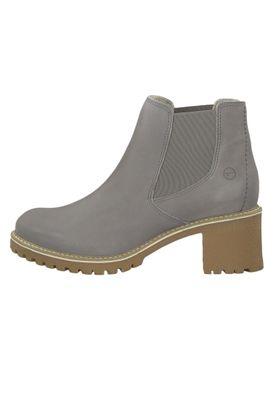 Tamaris 1-25447-23 254 Damen Stiefelette Chelsea Boot Leder Light Grey Grau – Bild 3