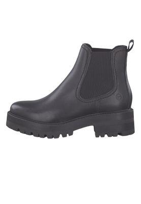 Tamaris 1-25445-23 003 Damen Stiefelette Chelsea Boot Leder Black Leather Schwarz – Bild 3