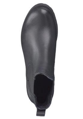 Tamaris 1-25445-23 003 Damen Stiefelette Chelsea Boot Leder Black Leather Schwarz – Bild 5