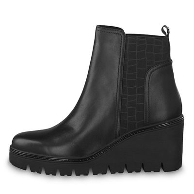 Tamaris 1-25401-21 214 Women's Anthracite Gray Ankle Boots Chelsea Boots with TOUCH-IT sole – Bild 4