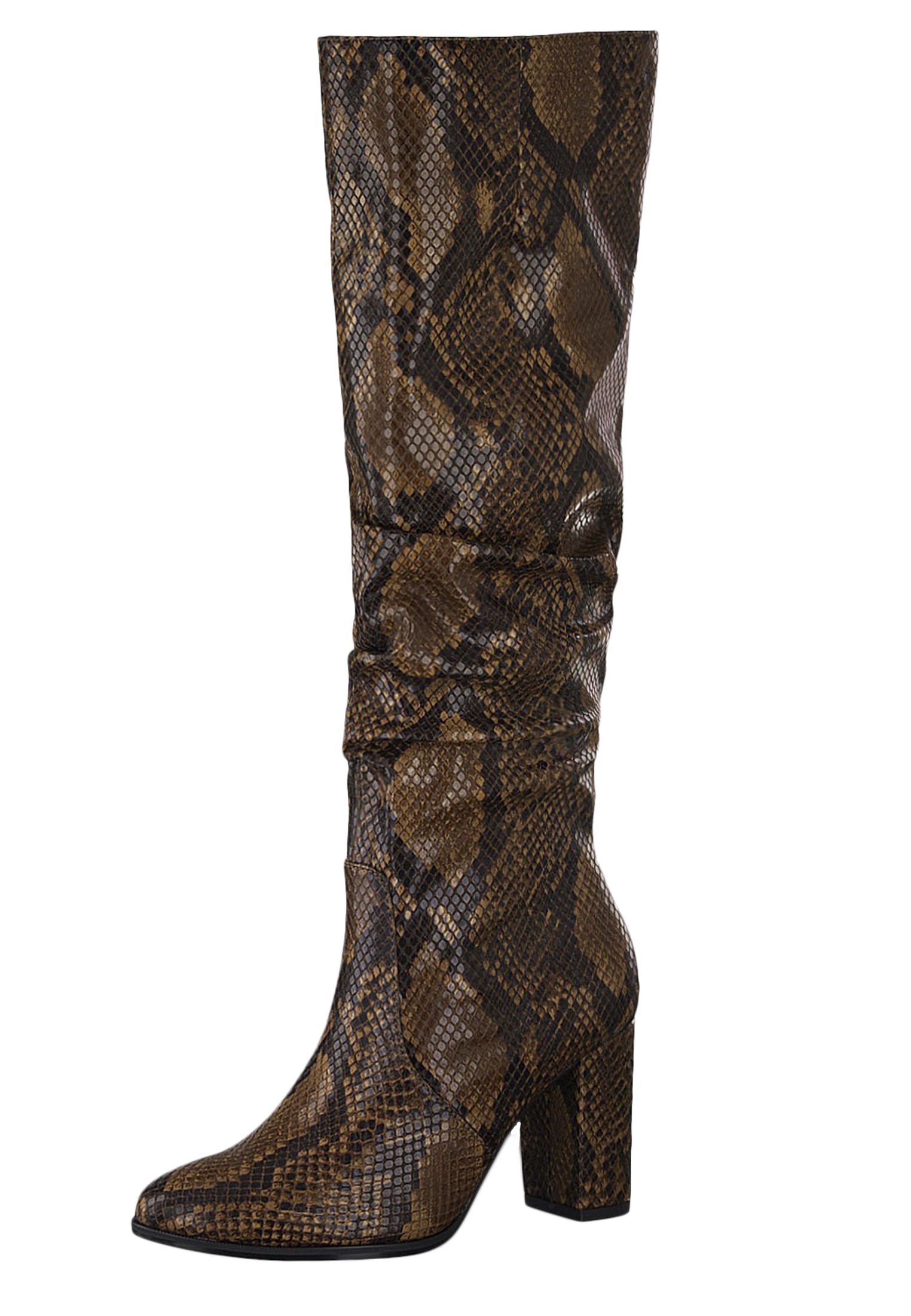 Tamaris Trend 1 25519 23 476 Damen Stiefel Langschaftstiefel Terra Snake Mehrfarbig Schlangenmuster mit TOUCH IT Sohle