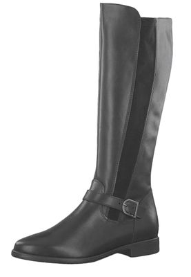 Tamaris 1-25534-23 001 Damen Stiefel in Reiterstiefel-Optik Black Schwarz – Bild 1