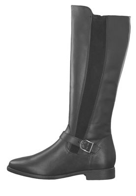 Tamaris 1-25534-23 001 Damen Stiefel in Reiterstiefel-Optik Black Schwarz – Bild 5