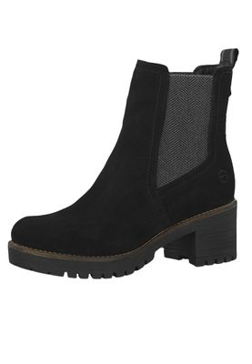 Tamaris 1-25447-21 001 Women's Black Black Leather Ankle Boot in Chelsea Boot Style – Bild 1