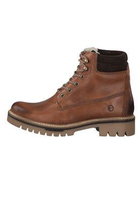 Tamaris 1-26253-23 305 Damen Stiefelette Lace-Up Boots Leder Cognac Braun mit Warmfutter – Bild 2