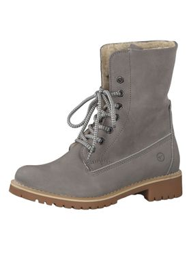 Tamaris 1-26443-23 254 Damen Schnürstiefelette Lace-Up Boots Light Grey Grau mit Warmlining und Primaloft – Bild 1